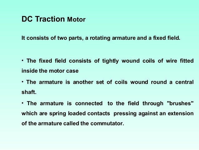 Electric traction for Dc traction motor pdf