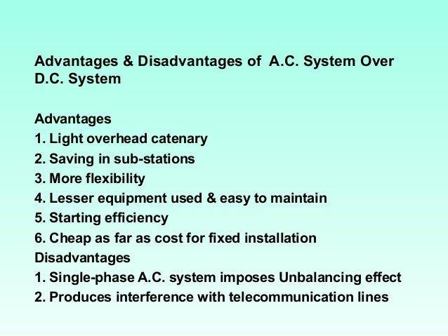 comparison advantages and disadvantages of dc motor engineering essay Current motor starting methods: advantages and disadvantages in comparison to the frequency converter  editor-in-chief, oil & gas engineering.