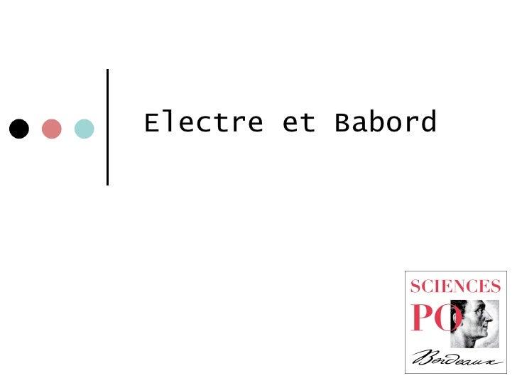 Electre et Babord