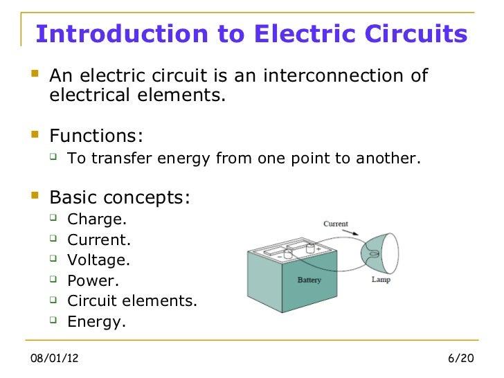 electric circuits chapter 1 basic concept rh slideshare net electric circuits basics electronic circuits basics