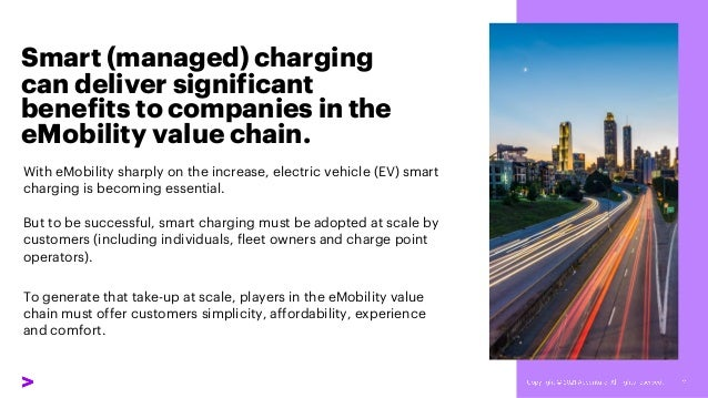 Smart (managed) charging can deliver significant benefits to companies in the eMobility value chain. With eMobility sharpl...