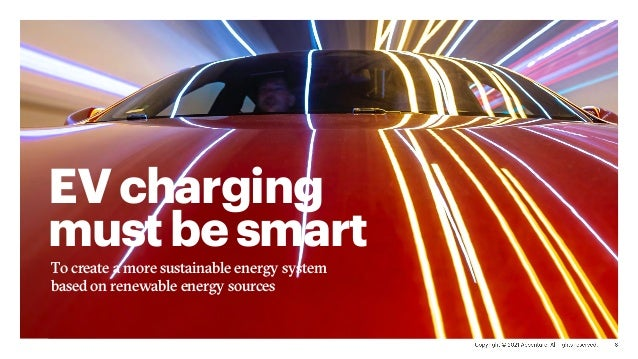 EVcharging mustbesmart To create a more sustainable energy system based on renewable energy sources