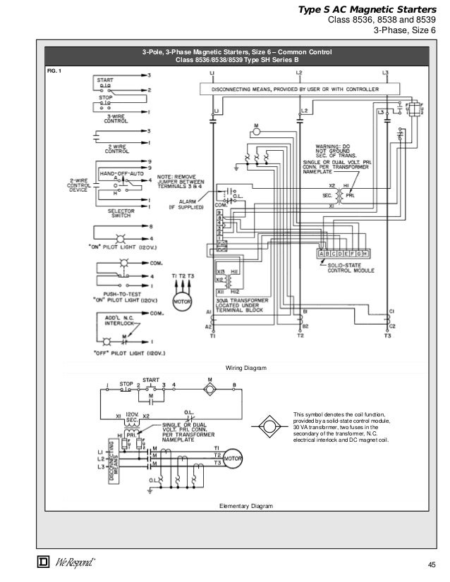 Square D 8536 Wiring Diagram - Go Wiring Diagrams on