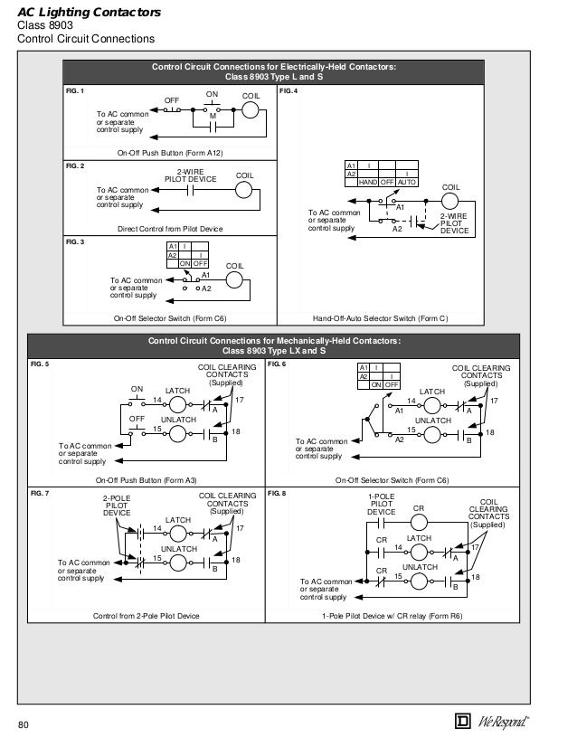 Electrically Held Lighting Contactor Wiring Diagram - Somurich.com