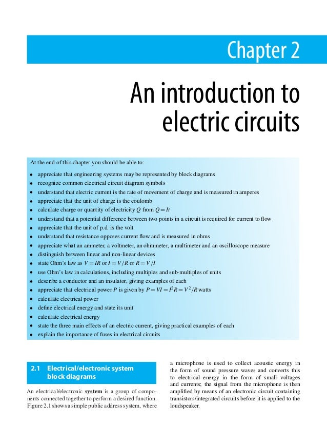Electrical and Electronic Principles for Technicians: v. 1