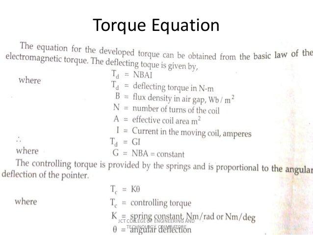 Torque equation of pmsm