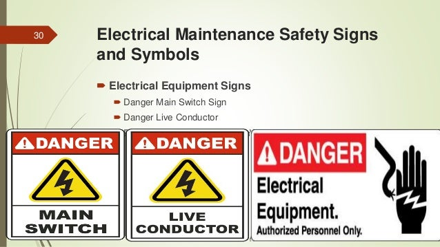 Electrical maintenance and its relationship to safety