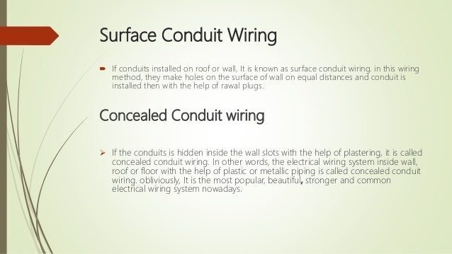 Electrical wiring system - and estimation on