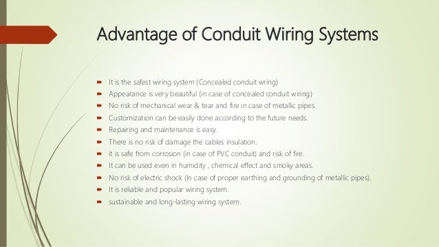 Types of wire used in wiring ...  sc 1 st  SlideShare : concealed wiring pipes - yogabreezes.com