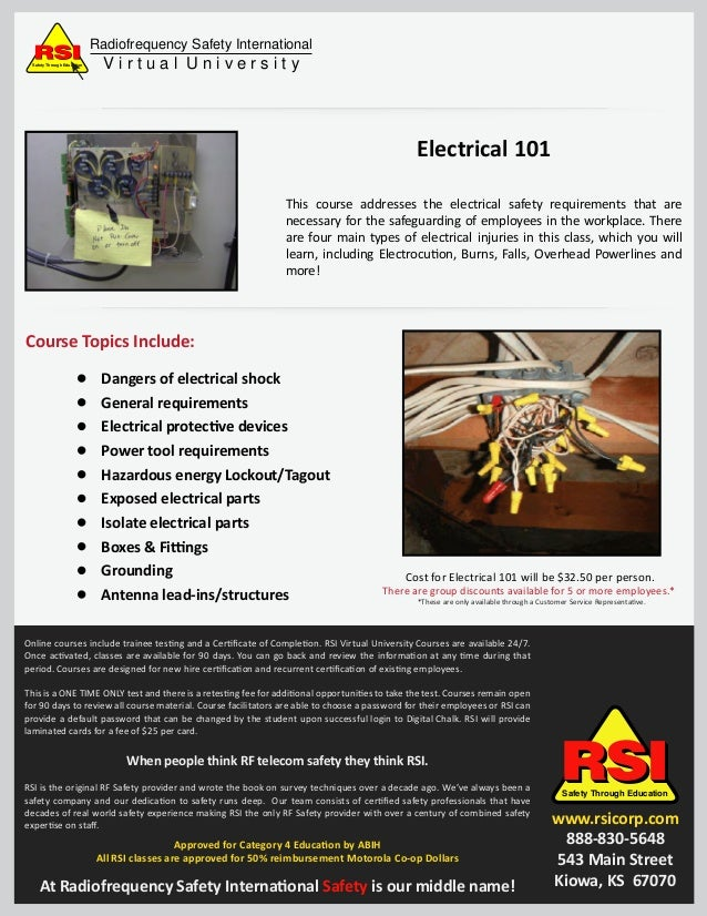 Electrical 101 flyer for Home electrical 101