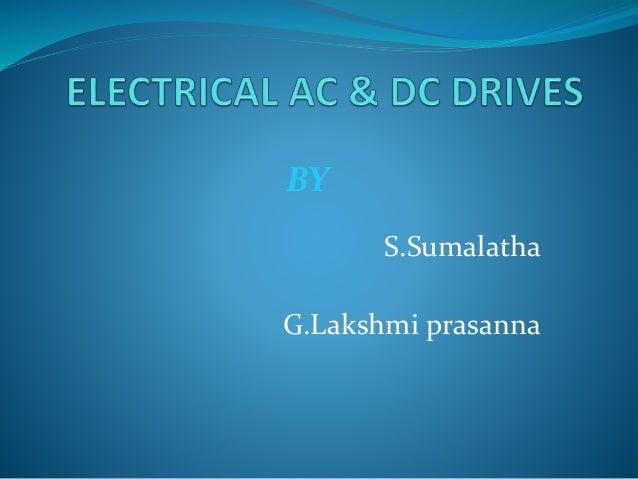 S.Sumalatha G.Lakshmi prasanna BY