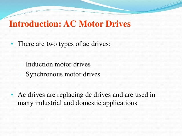 Electrical Ac Amp Dc Drives Ppt