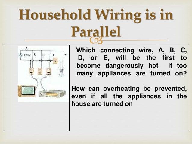 parallel house wiring rh slideshare net wiring household outlet wiring household switch