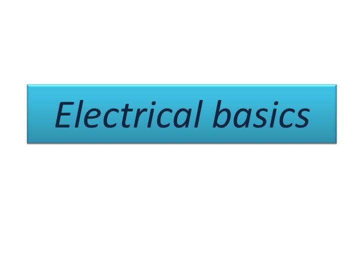 Electrical basics<br />