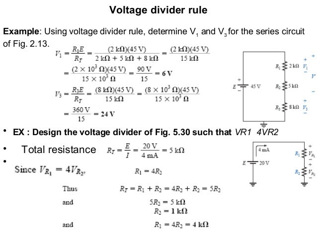 electrical circuitsVoltage Divider In Series And Parallel Circuit Electrical #10