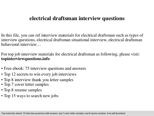 electrical draftsman interview questions