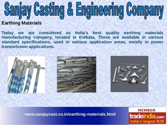 Electrical Earthing Materials Exporter, Manufacturer, Kolkata