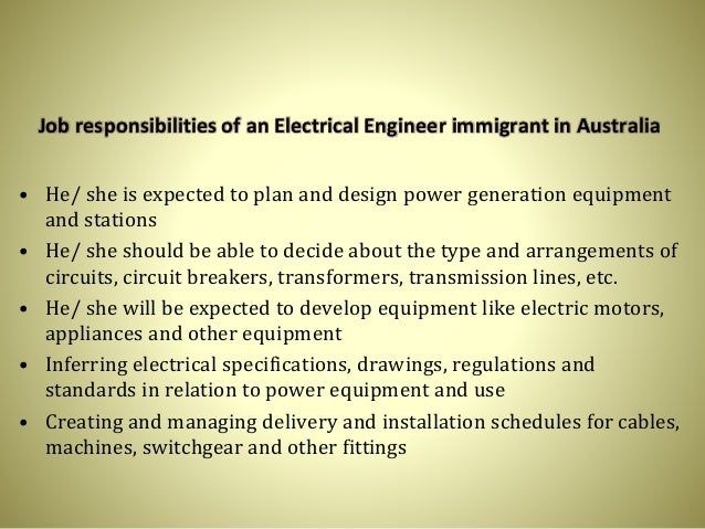 5 job responsibilities of an electrical engineer electrical engineer responsibilities - Responsibilities Of An Electrician