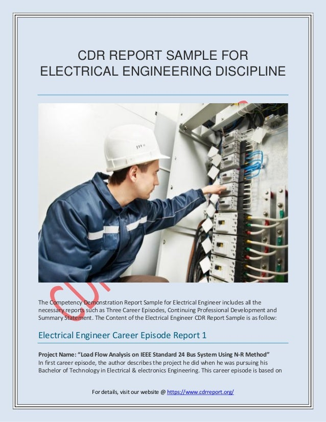 electrical engineer cdr report sample anzsco code 233311