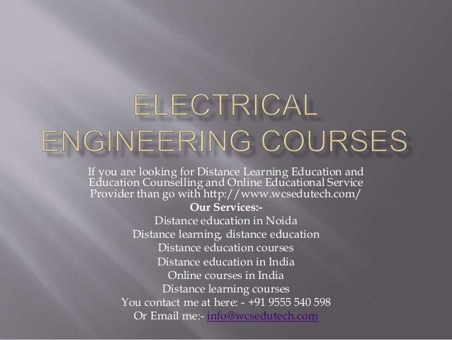 Electrical engineering degree coursework