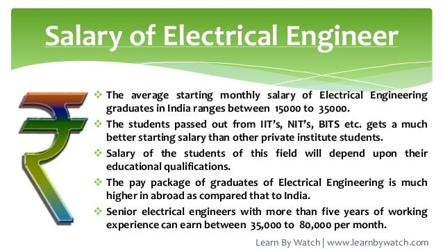 Job Of Electrical Engineer Learn By Watch