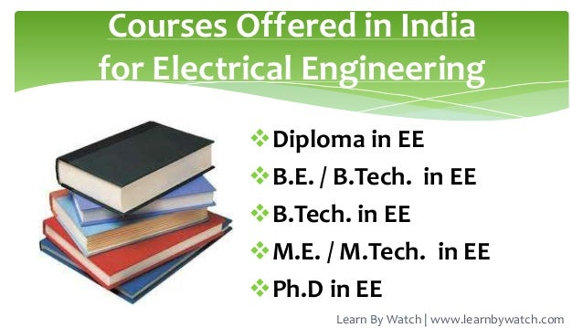 Introduction To Electrical Engineering Branch Of Engineering
