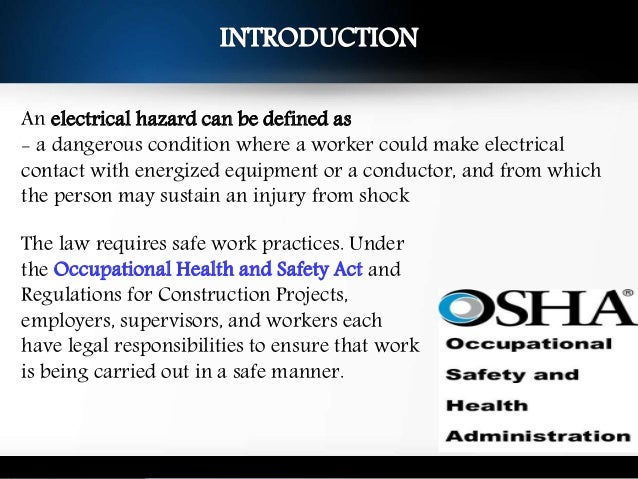 electrical hazards and control measures pdf