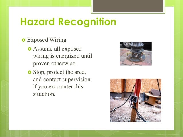 Hazard Recognition ? Exposed Wiring ...  sc 1 st  SlideShare : electrical wiring hazards - yogabreezes.com