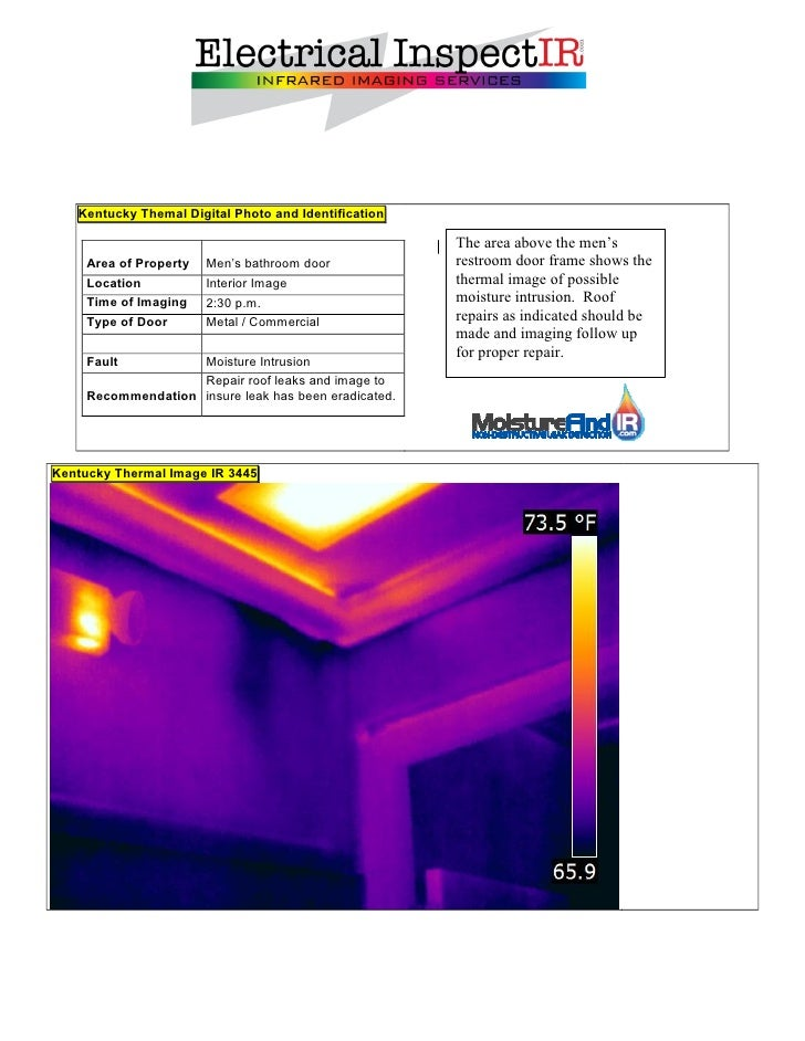 Electrical inspect ir sample report for Thermal imaging report template