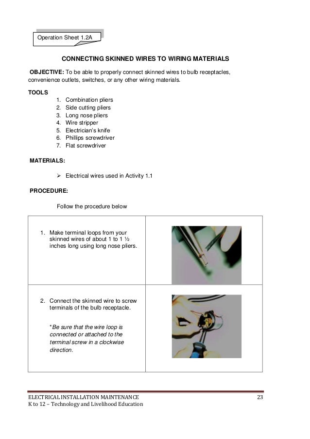 k to 12 electrical learning module rh slideshare net electrical wiring installation guide pdf electrical wiring installation guide