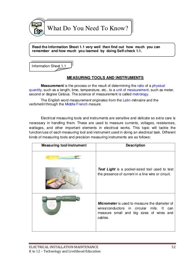 k to 12 electrical learning module, wire diagram, electrical wiring materials list pdf