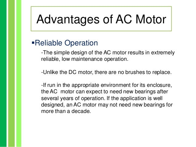 Advantages And Disadvatages Of Acdc Motor on ac motor current vs frequency