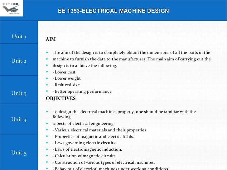 Electrical machine design (III-EEE) Slide 2