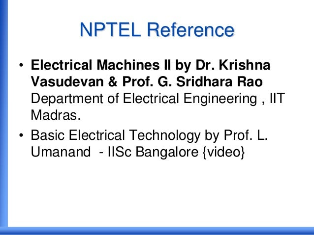 Nptel iit madras electrical machine
