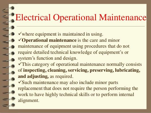 electrical maintenance, wiring diagram
