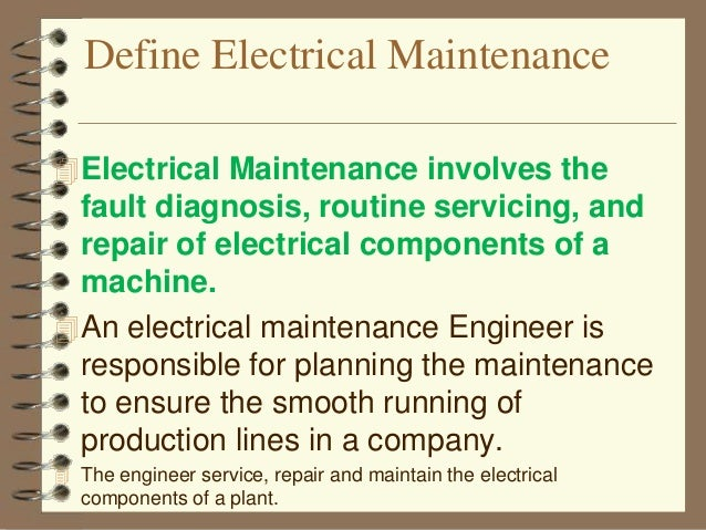 Electrical maintenance-1