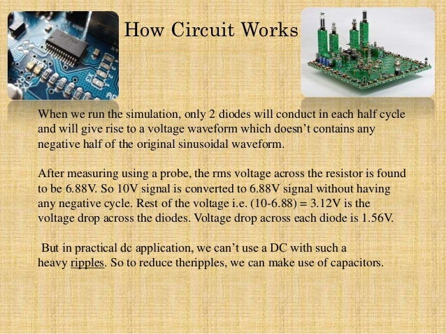 Is The Purpose Of An Rc Branch Accros The Diode Of A Rectifer Circuit