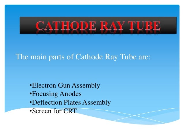 Working Diagram Of The Cathode Ray Tube Crt In A Separate Window