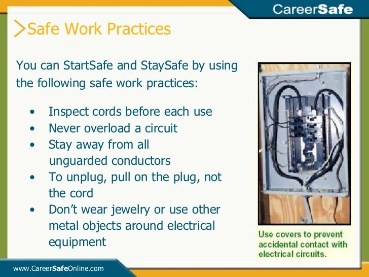 how to work safely at a Define and document safe work practices conduct site inspections  occupational safety and health administration 200 constitution ave nw washington, dc 20210.