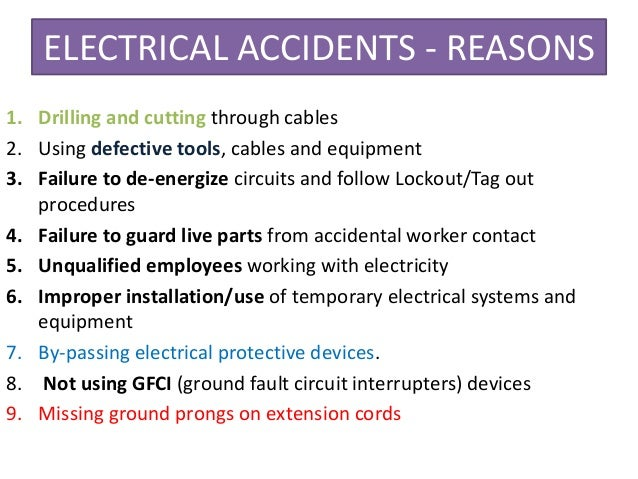 Electrical Safety And Risk Assessments