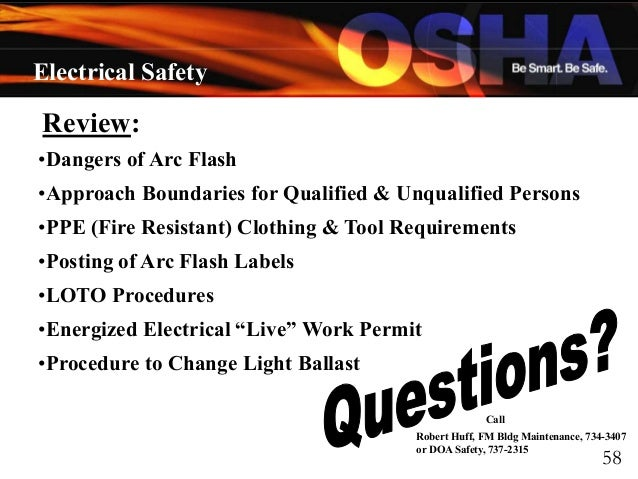 Electrical Safety by OSHA