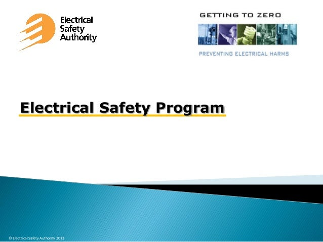 Electrical Safety Program  © Electrical Safety Authority 2013