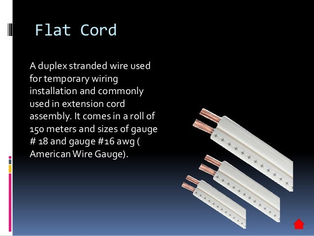 Electrical supplies materials 12 flat cord a duplex stranded wire greentooth Image collections