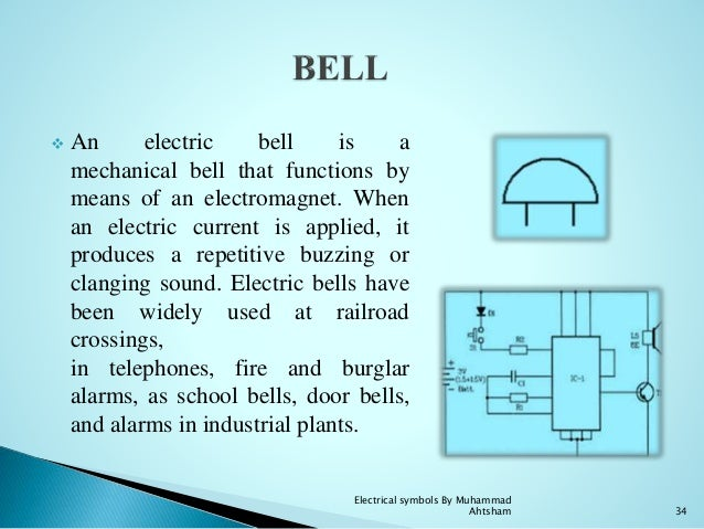 Electrical Symbols. 33 Electrical Symbols By Muhammad Ahtsham 34. Wiring. School Bell Wire Diagram At Scoala.co