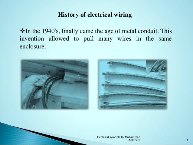 electrical symbols rh slideshare net history of electric wiring history of electrical wiring of cars