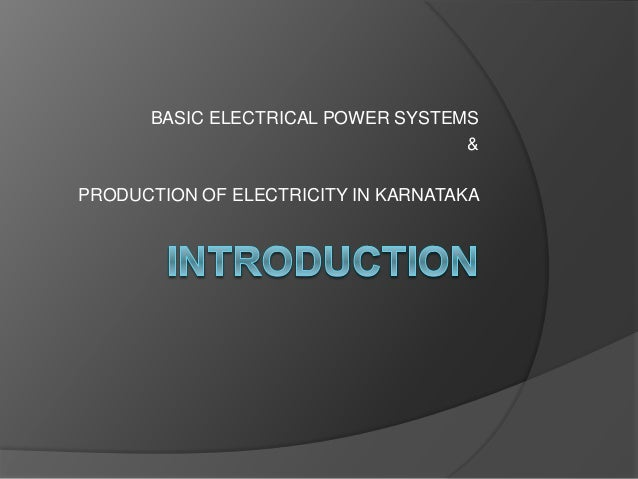 Electricity Distribution In Karnataka