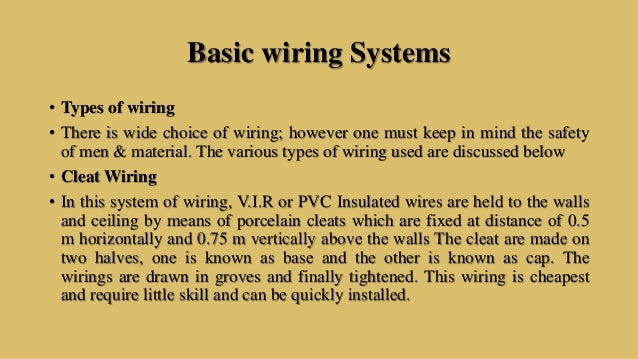 Types Of House Wiring In India - Auto Electrical Wiring Diagram •