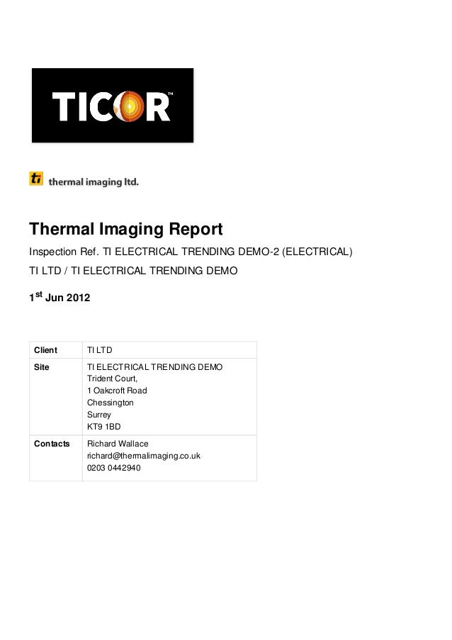 Electrical Thermal Imaging Report Ticor