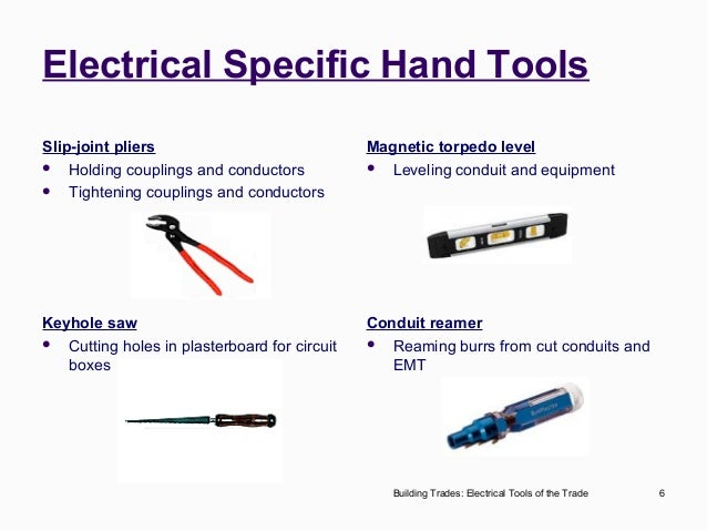 6 Building Trades Electrical Tools