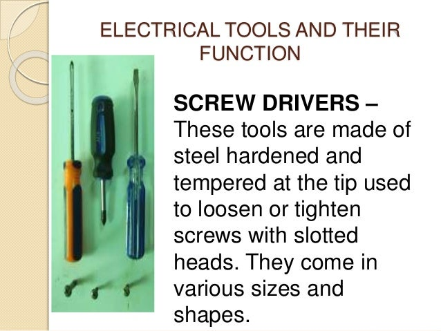Electrical tools and its function